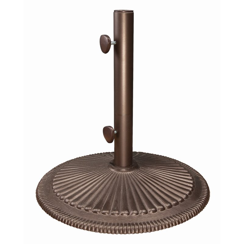 SimplyShade Coral Cast Iron Free Standing Umbrella Base in Bronze