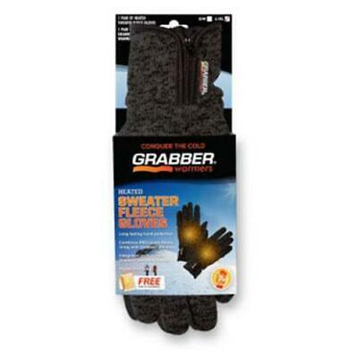 GBGGLXL Grabber Warmers Heated Sweater Fleece Gloves