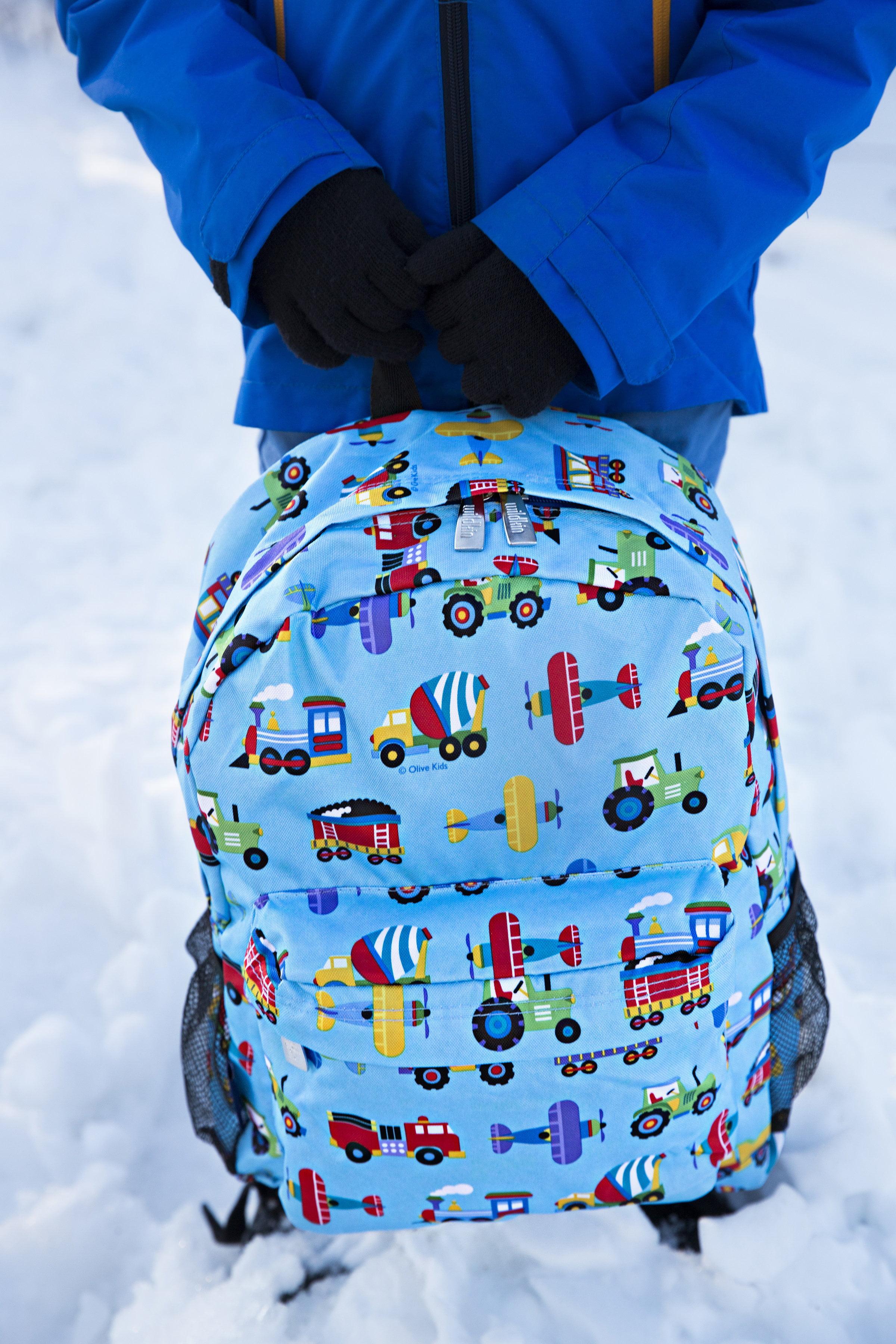 Olive Kids Trains, Planes, Trucks 16 Inch Backpack by Wildkin