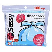 Sassy Diaper Sacks, 100 Count