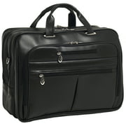McKlein ROCKFORD, Checkpoint-Friendly Laptop Briefcase, Top Grain Cowhide Leather, Black (86515)