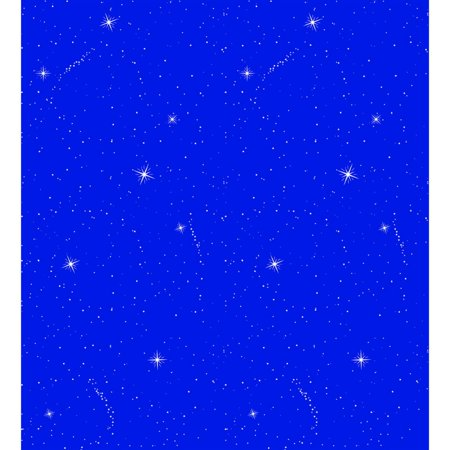 Fadeless 48 In. x 50 Ft. Night Sky Pattern Art Paper Roll - Fadeless Paper