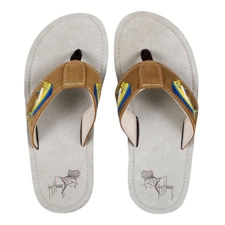 Guy Harvey Mens Dolphin Sandals (Best Sandals For Guys)