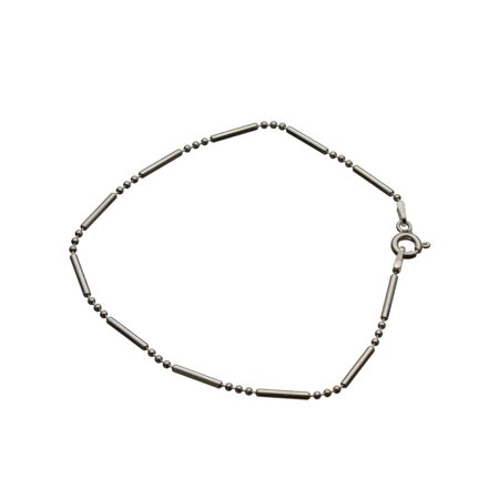 Sterling Silver Bead Bar Ball Chain Bracelet Italy, (Chime Ball Bracelet)