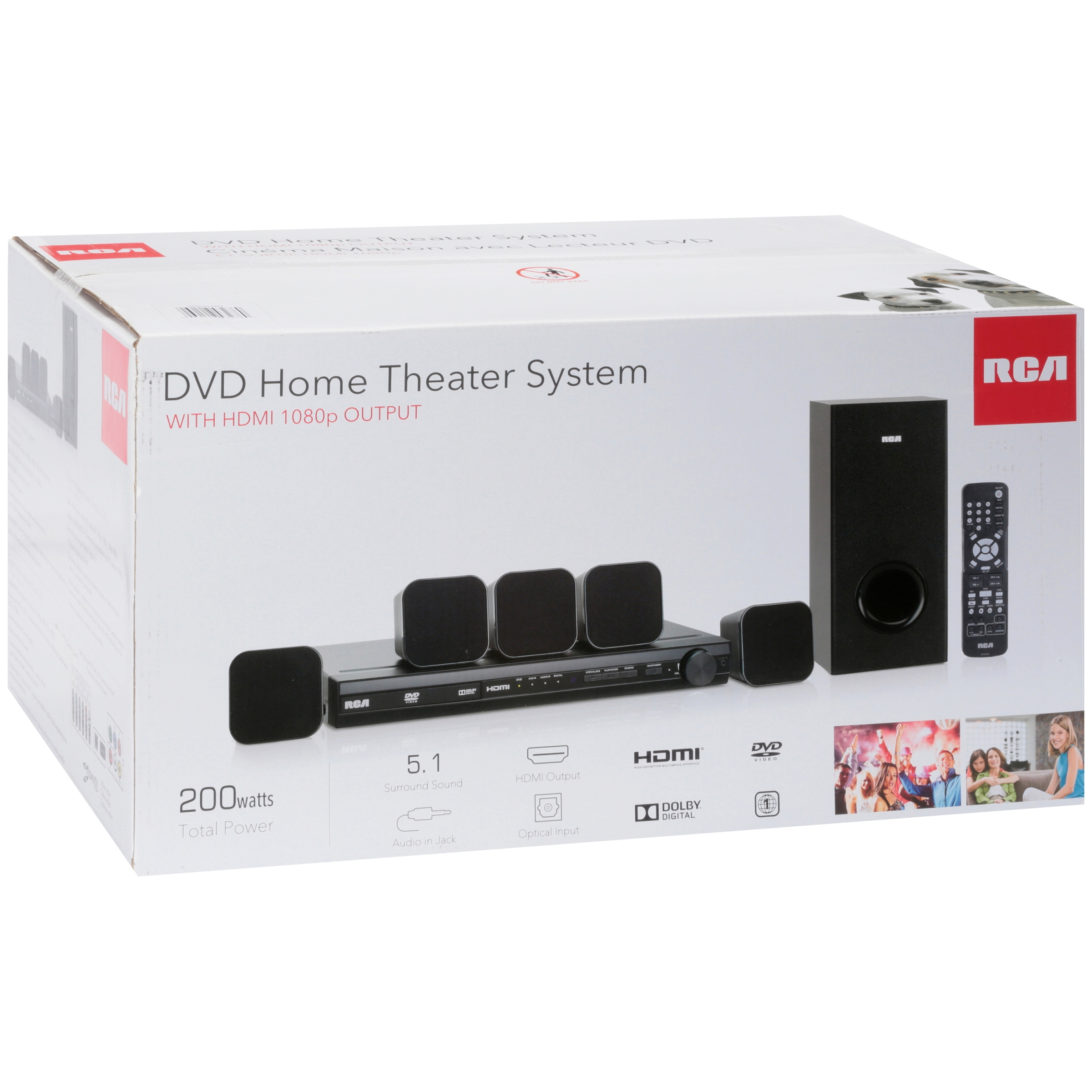 Rca Dvd Home Theater System With Hdmi 1080p Output 8 Pc Box Connection Diagram On 5 1 Surround Sound Setup Simple