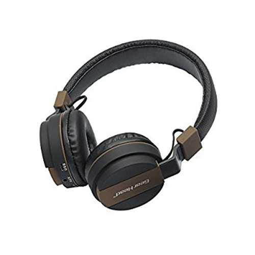 Refurbished BT8875M Dynamic Bass Bluetooth Wireless Headphones with Microphone & Media Controls Black