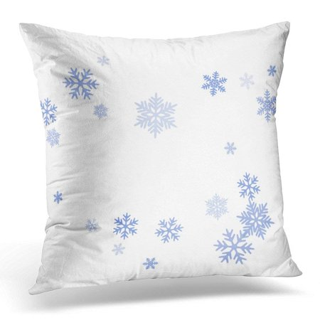 ARHOME Snowflakes Falling on White Winter Snow Flakes Macro Water Freezing Parts Confetti Chaotic Scatter Cold Pillow Case Pillow Cover 18x18 - Snow Confetti