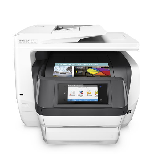 HP K7S42A#B1H Officejet Pro 8740 Inkjet Multifunction All-in-One Printer/Copier/Scanner/Fax Machine