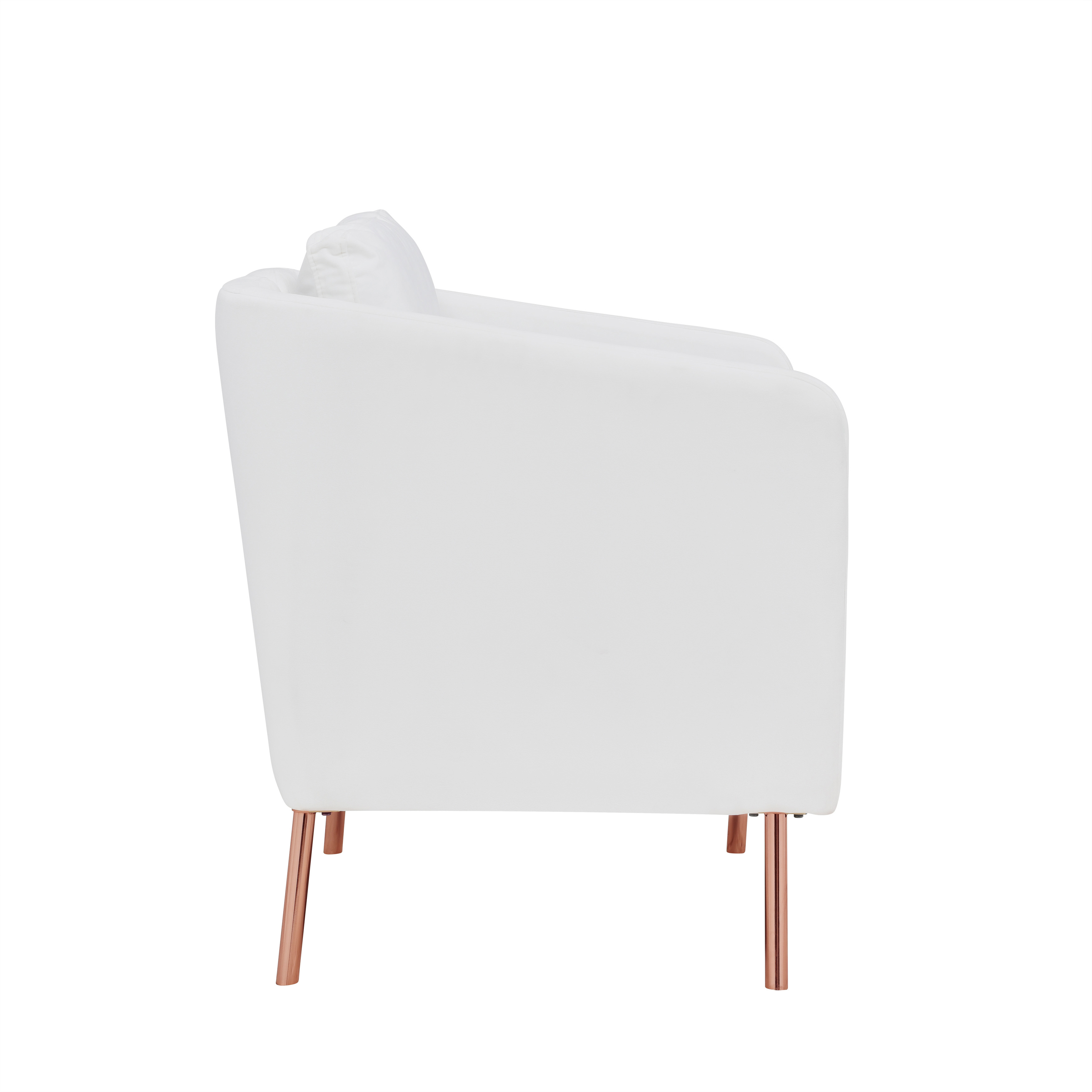 Picture of: Mainstays Velvet Look Arm Chair With Rose Gold Legs Multiple Colors Walmart Com Walmart Com