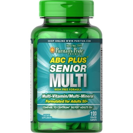 Puritan's Pride ABC Plus® Senior Multivitamin Multi-Mineral (Vegetables Multivitamin Formula)