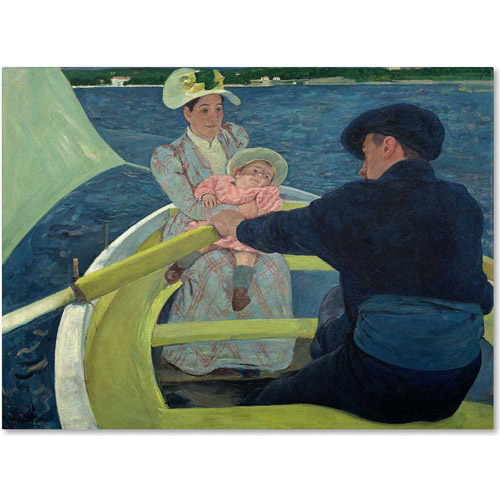 "Trademark Fine Art ""The Boating Party 1893-94"" Canvas Art by Mary Cassatt"