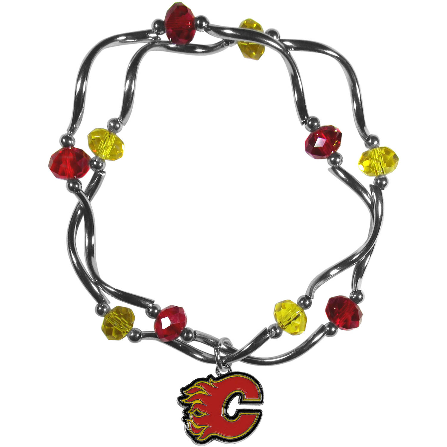 Calgary Flames Stretch Bead Bracelet