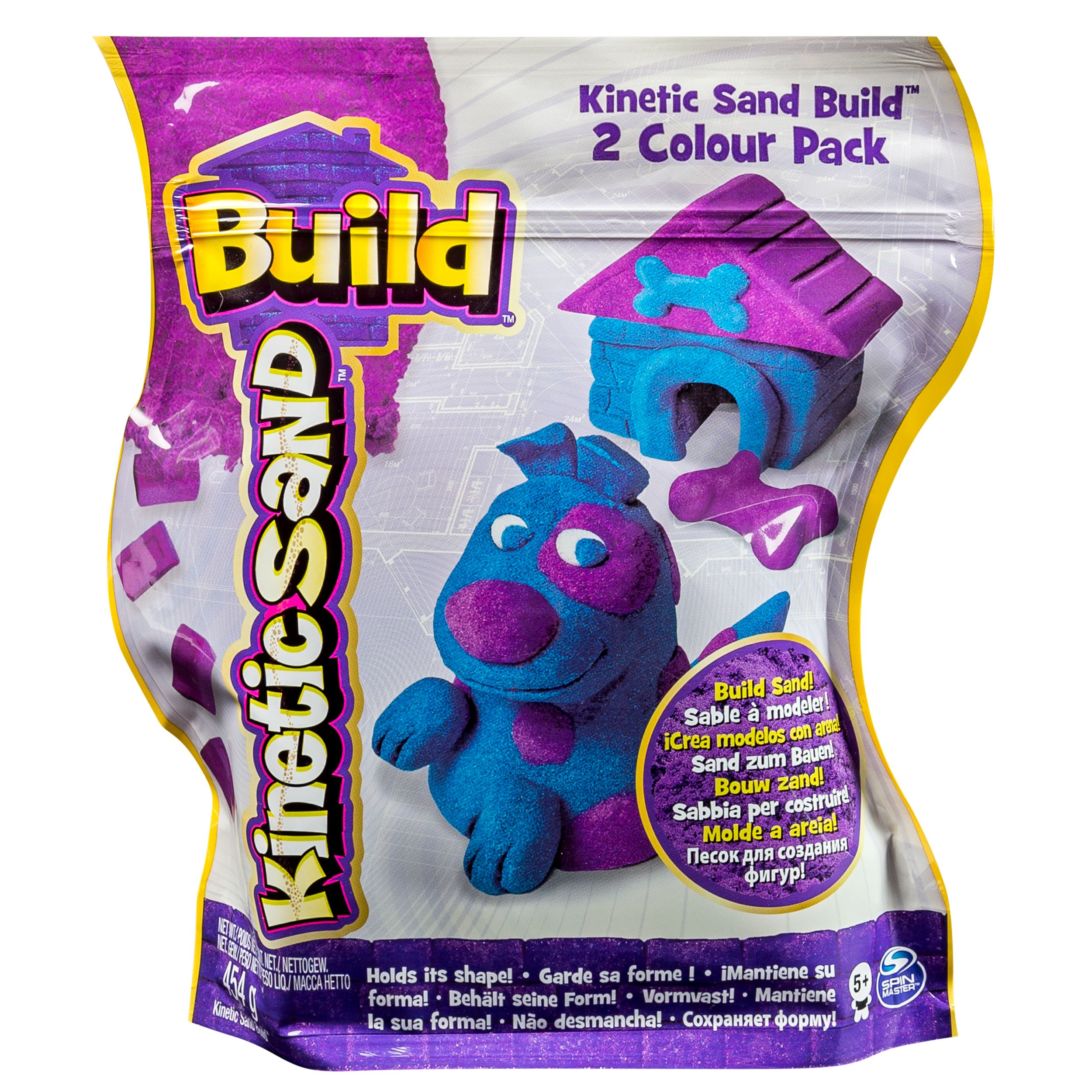 The One and Only Kinetic Sand Build, 1lb Color Pack, Purple and Blue