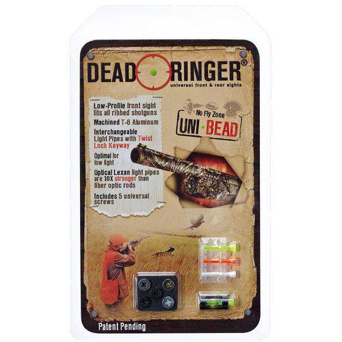 Dead Ringer DR4386 Uni-Bead Front Sight Interchangable Lexan, Green/Orange/White