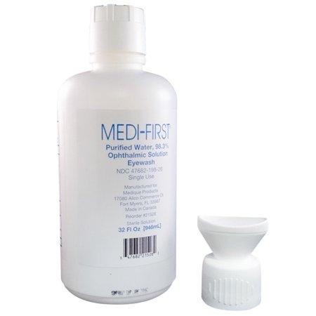Medi-First Eye Wash 98.3% Ophthalmic Solution 32 oz Bottle (First Eye)
