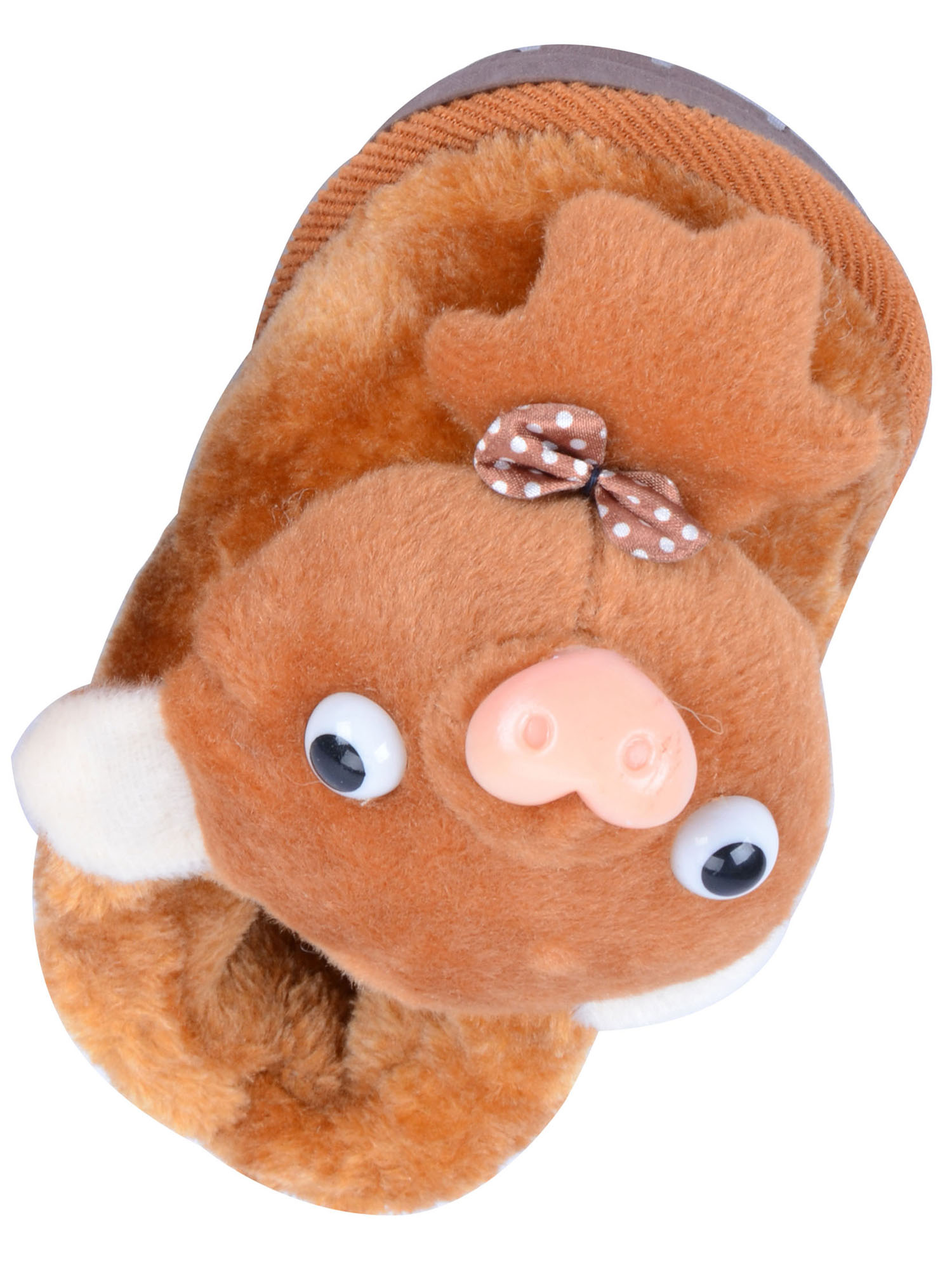 Child Kid Animal Pig Style Winter Warm Slippers Indoor Shoes
