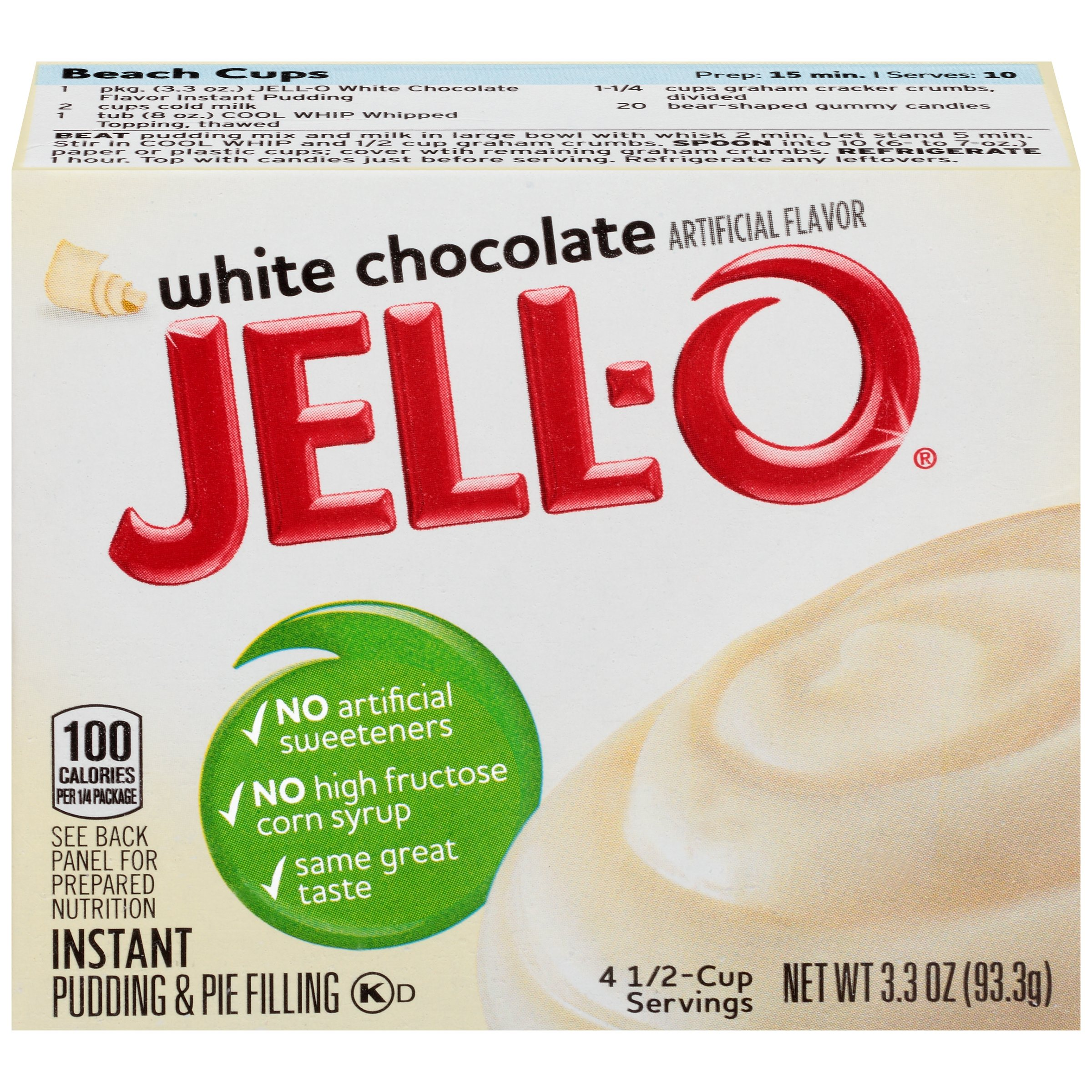 Jell-O White Chocolate Instant Pudding & Pie Filling Mix 3.3 oz. Box