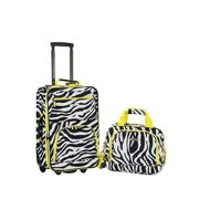 2 Pc Lime Zebra Luggage Set, Lime Zebra