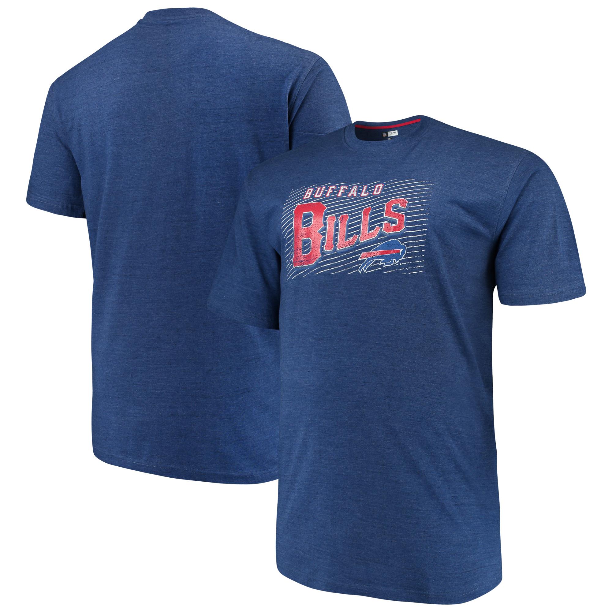 Men's Majestic Royal Buffalo Bills Big & Tall Royal Domination Malt T-Shirt