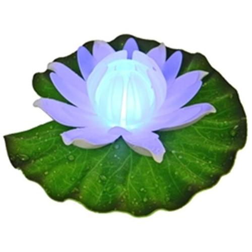 Fortune Products GL-301-ABW Floating Lily Pad Light - White Amber