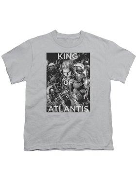 Jla - King Of Atlantis - Youth Short Sleeve Shirt - Large
