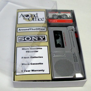 EBS M-455 SONY Microcassette Voice Recorder M455 Gift Box...