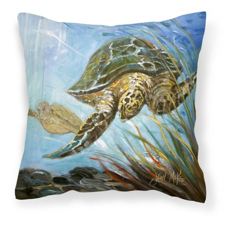 Carolines Treasures Loggerhead Sea Turtle Square Decorative Outdoor - Sea Turtle Pillow