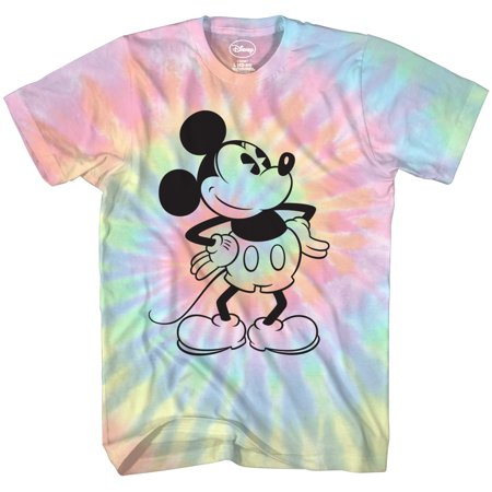 Mickey Mouse Attitude Tie Dye Classic Vintage Disneyland World Mens Adult Graphic Tee T-Shirt Apparel… Classic Screen Print Jersey