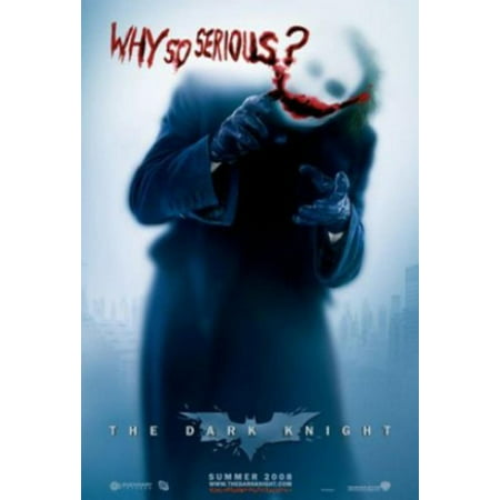 Batman - The Dark Knight - Movie Poster (The Joker - Why So Serious - Blue Background) (Size 27'' x 39'') (By ), Movie Poster By POSTER STOP