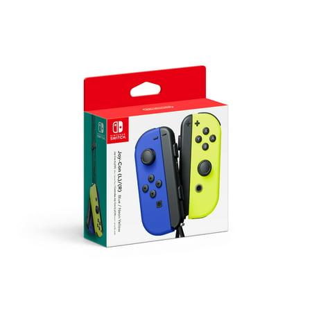 Nintendo Switch Joy-Con Pair, Neon Blue & Neon Yellow