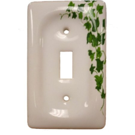 Light Switchplate Cover Unique Decor (Leviton Green Vine Ceramic Toggle Switch Cover Wallplate Switchplate 89501-GRN)
