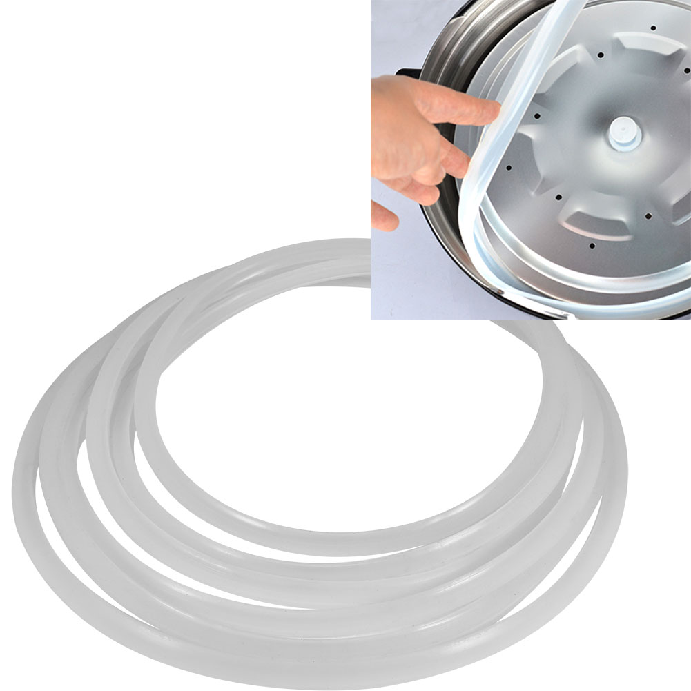 Pressure Gasket,Ymiko 6 Sizes Replacement Clear Silicone Gasket Sealing Ring for Home Pressure Cooker Kitchen Tool, Vent Plugs