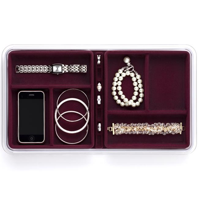Neatnix RJS-6-4 Jewelry Stax - 6 Compartment - Burgundy