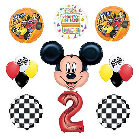Mickey Mouse 2nd Birthday Party Supplies and Mickey Roadster Balloon Bouquet Decorations - Mickey Mouse Decoration Birthday Party