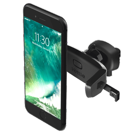 iOttie Easy One Touch Mini Air Vent Car Mount Holder Cradle for iPhone 7 7 Plus/ 6s Plus/6s/6, Samsung Galaxy S8 Edge S7 S6 Note 5, Nexus 6, &
