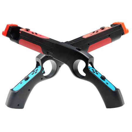 Game Gun Controller Handle Grips Compatible with Nintendo Switch NS Joy-con Games;Game Gun Controller Handle Grips Compatible with Nintendo Switch Super Grip Black Gun