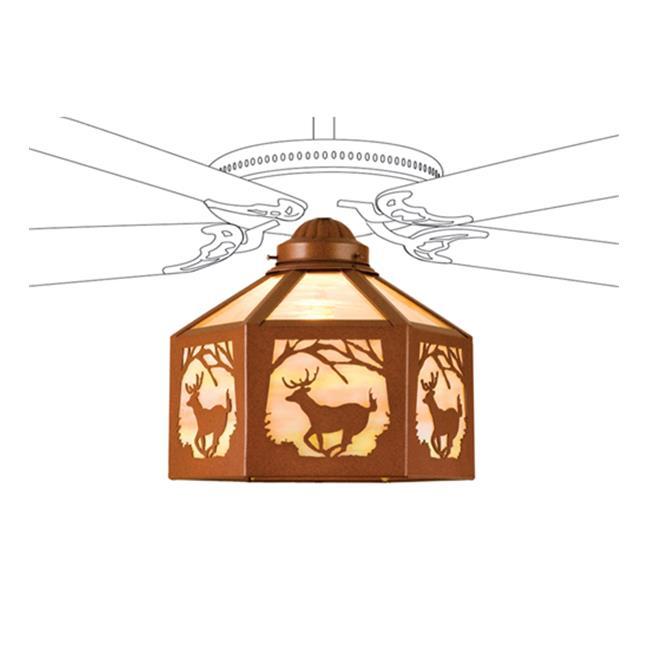 MEYDA 23266 Lone Deer 13 inch W Fan Light Shade
