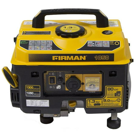 Firman P01001 1300/1050 Watt Gas Recoil Start Generator, cETL, CARB
