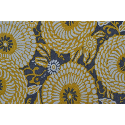 "The Rug Market Botanical Flora Grey Yellow 2.8"" x 4.8"" Area Rug by The Rug Market"