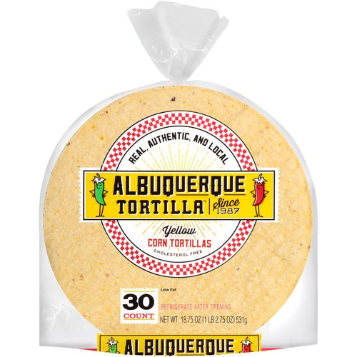 Albuquerque Tortilla Yellow Corn Tortillas, 30 ct, 18.75 oz
