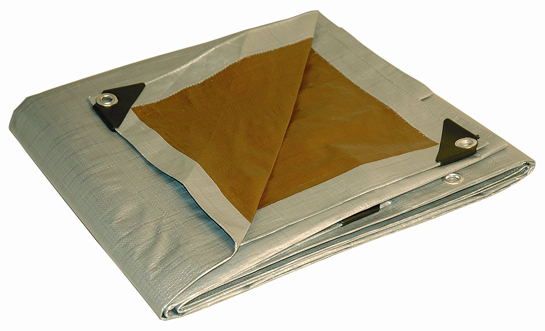 Sunshades Depot 16 x 20 Feet Super Heavy Duty 16 Mil Waterproof Dark Brown Poly Tarp