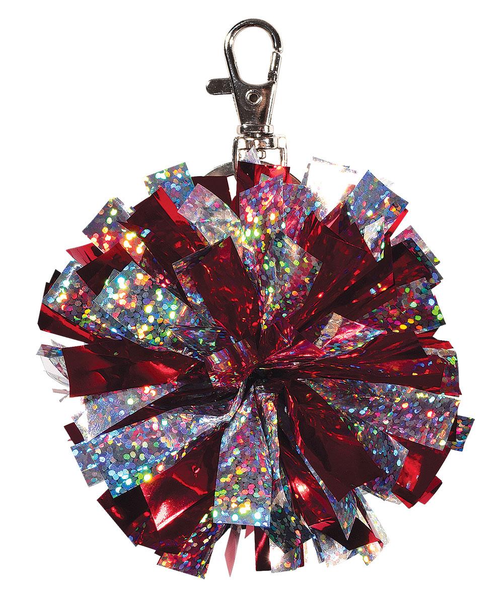 Chassé Girls Mini Cheerleading Pom-Pom Keychain-