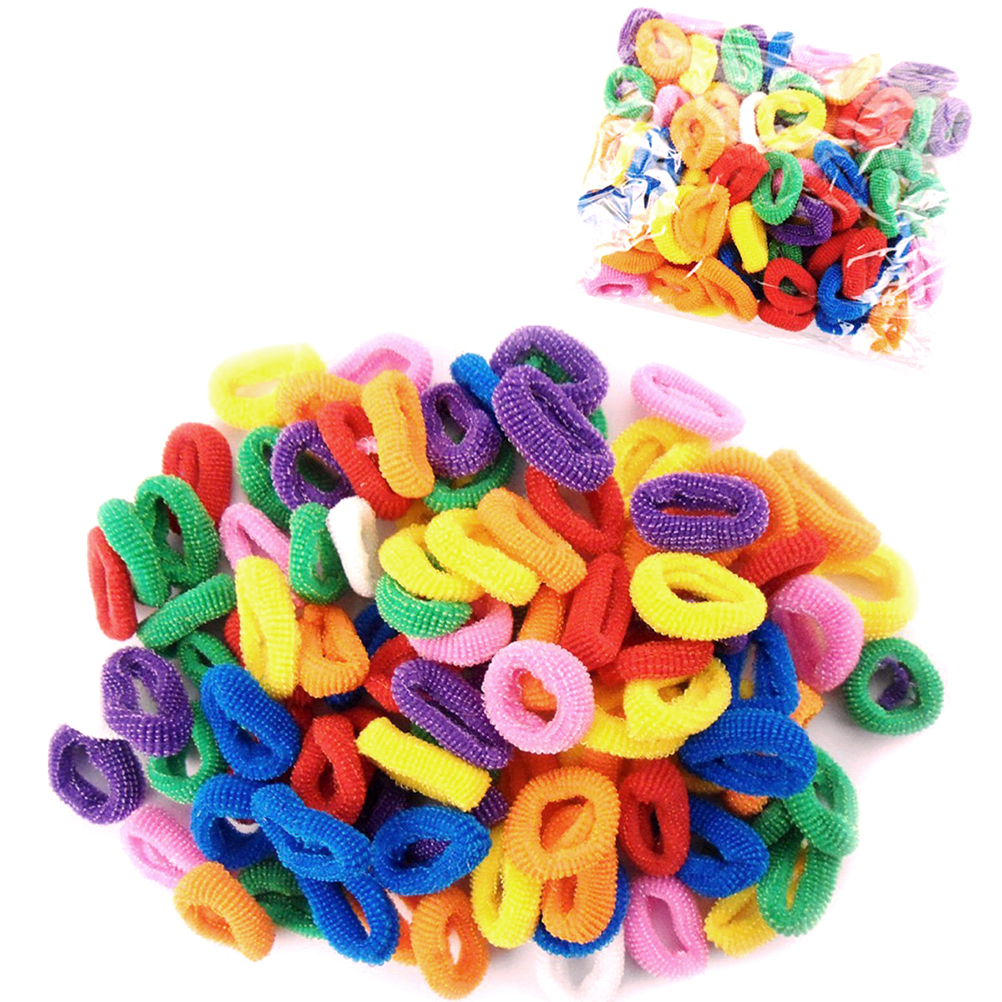 Girls Hair Bobbles Bands Ponytail Elastic Stretchy Hairbands,50pcs Pack(Random Color)