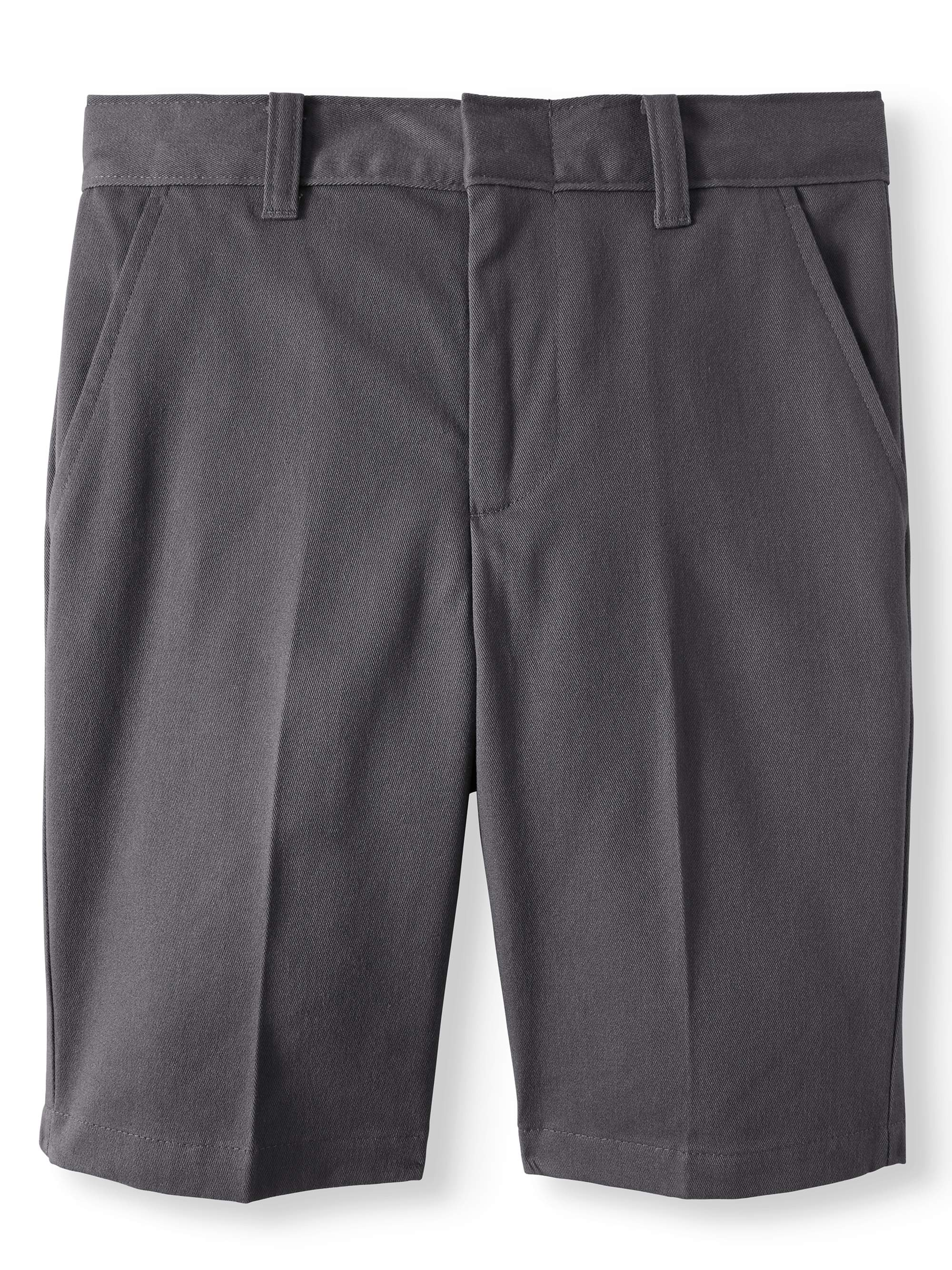 Boys School Uniforms Flat Front Shorts