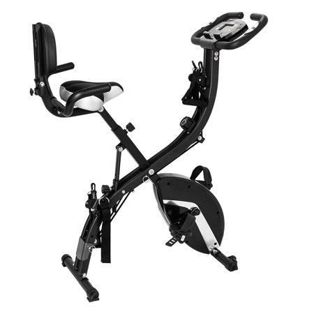3 in 1 Adjustable Folding Exercise Bike Convertible Magnetic Upright Recumbent Bike