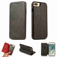 Dteck iPhone 6 6s Case, Premium PU Durable Leather Card Slots Wallet Folio Protective Shockproof Cover For iPhone 6 6s, black