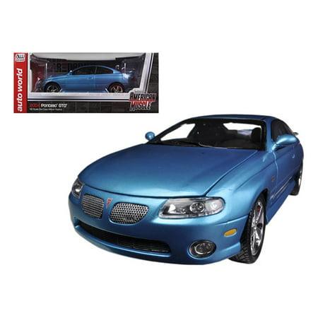 "2004 Pontiac GTO Blue Car & Driver"" Bermuda Blue With Black Interior Limited to 1250pc Worldwide 1/18 Diecast Model Car"
