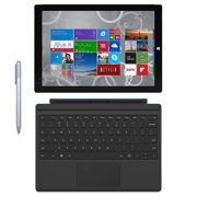 Refurbished Microsoft Surface Pro 3 Tablet (12-Inch, 128 GB, Intel Core i5, Windows 10) + Microsoft Surface Type Cover