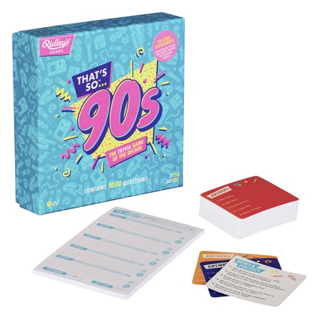 That's So 90s Team Trivia Set Game For Families, Groups, and Parties - Group Halloween Games