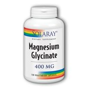Solaray Magnesium Glycinate 400 mg   Healthy Relaxation, Bone & Cardiovascular Support